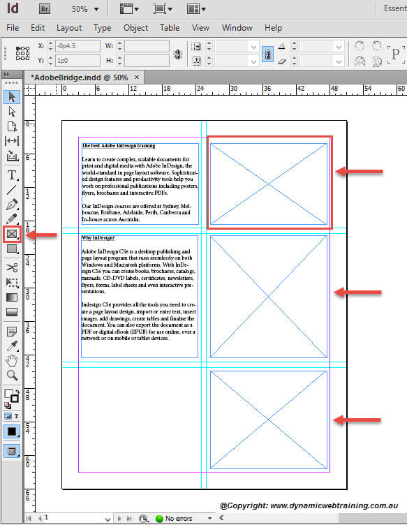 How to Place Graphics in InDesign Document using Adobe Bridge