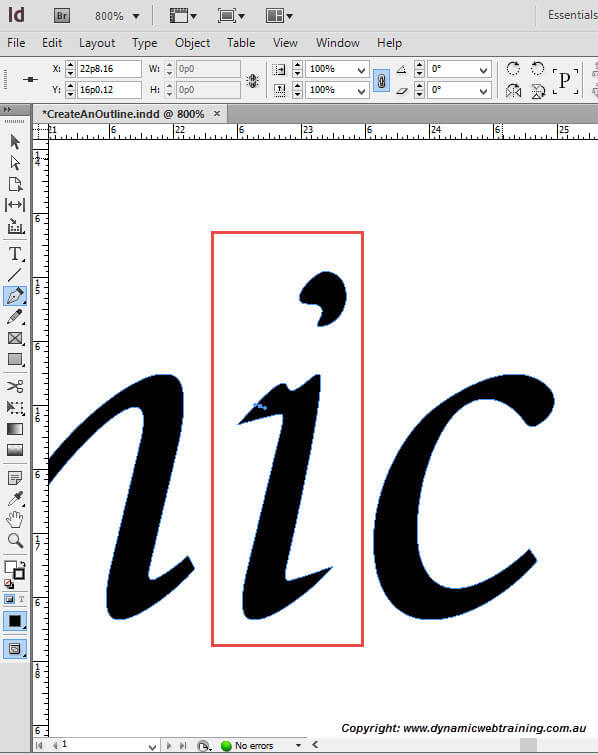 How To Create An Outline In Indesign Dynamic Web Training Blog