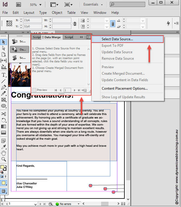 How to use Data Merge in InDesign - Dynamic Web Training Blog