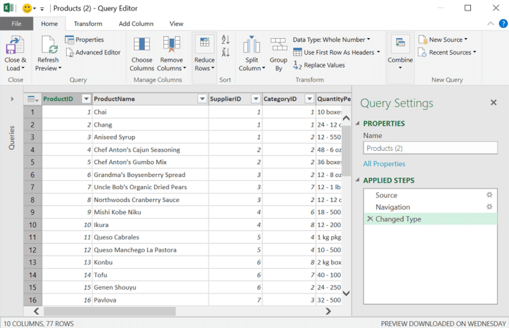 Query Editor in Excel 2016 - Dynamic Web Training