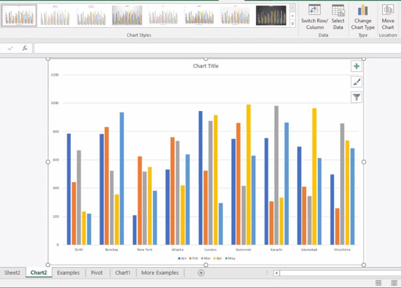 Excel Column Chart - Dynamic Web Training