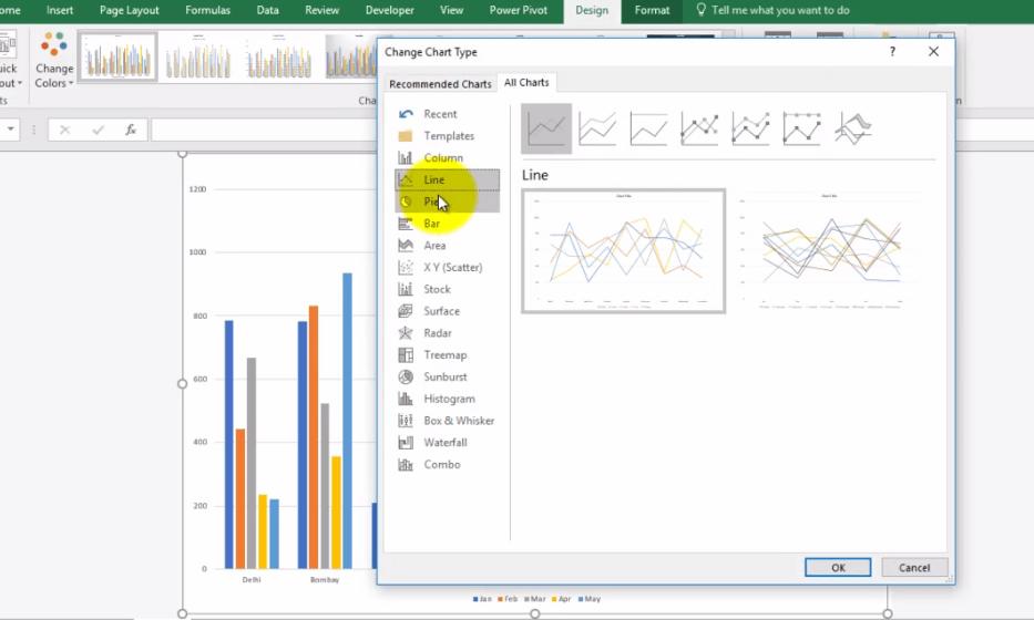 Excel Line Chart - Dynamic Web Training