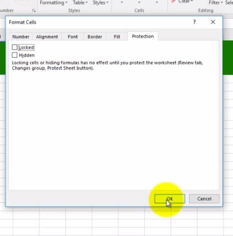 Excel Lock Sheet 2 - Dynamic Web Training