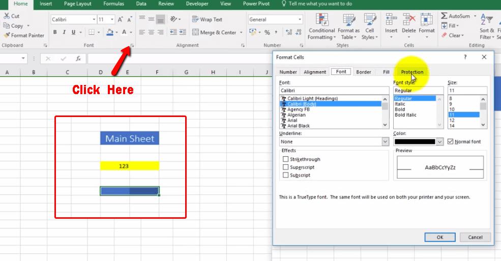 Excel Lock Sheet 1 - Dynamic Web Training