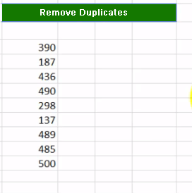 Excel Remove Duplicate 5 - Dynamic Web Training