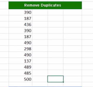 Excel Remove Duplicate 1 - Dynamic Web Training