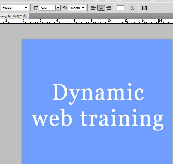 Photoshop Fonts Pixelated 7 - Dynamic Web Training