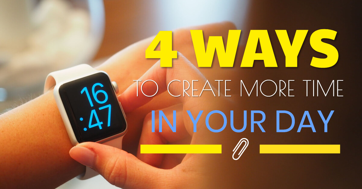 4 ways for more time - Dynamic Web Training