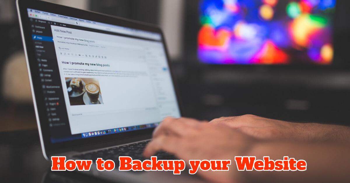 How to backup WordPress website - Dynamic Web Training