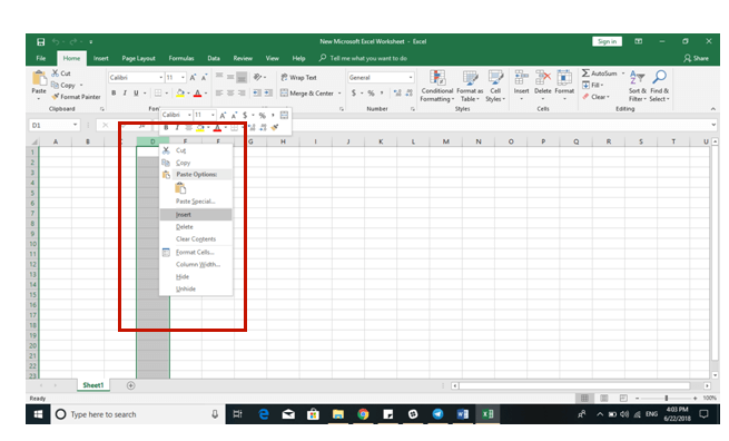 Excel 2016 Tips - Add Remove Cells 3 - Dynamic Web Training