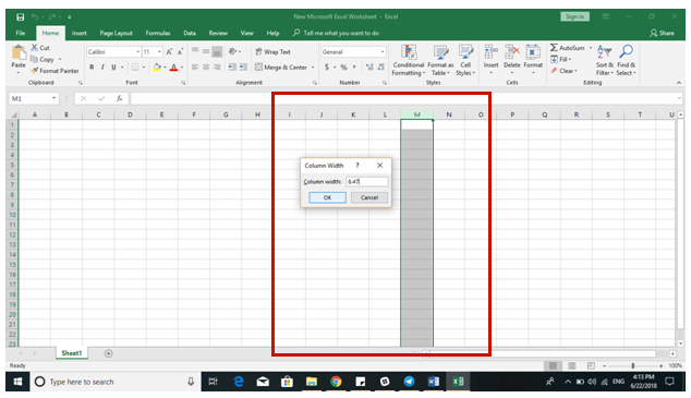 Excel 2016 Tips - Add Resize Cells 2 - Dynamic Web Training