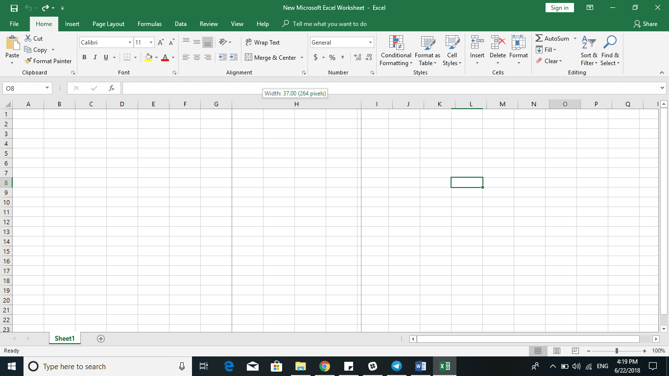 Excel 2016 Tips - Add Resize Cells 3 - Dynamic Web Training