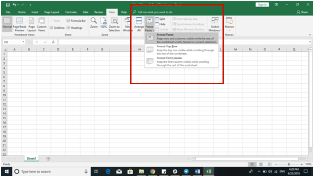 Excel 2016 Tips - Freeze Panes - Dynamic Web Training