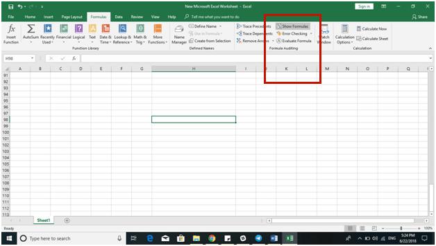Excel 2016 Tips - Reveal Formula 2 - Dynamic Web Training
