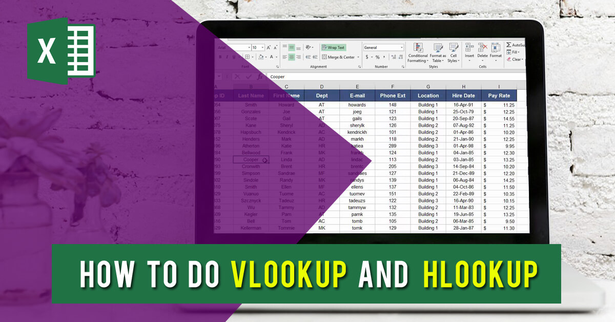 How to do VLOOKUP and HLOOKUP - Dynamic Web Training