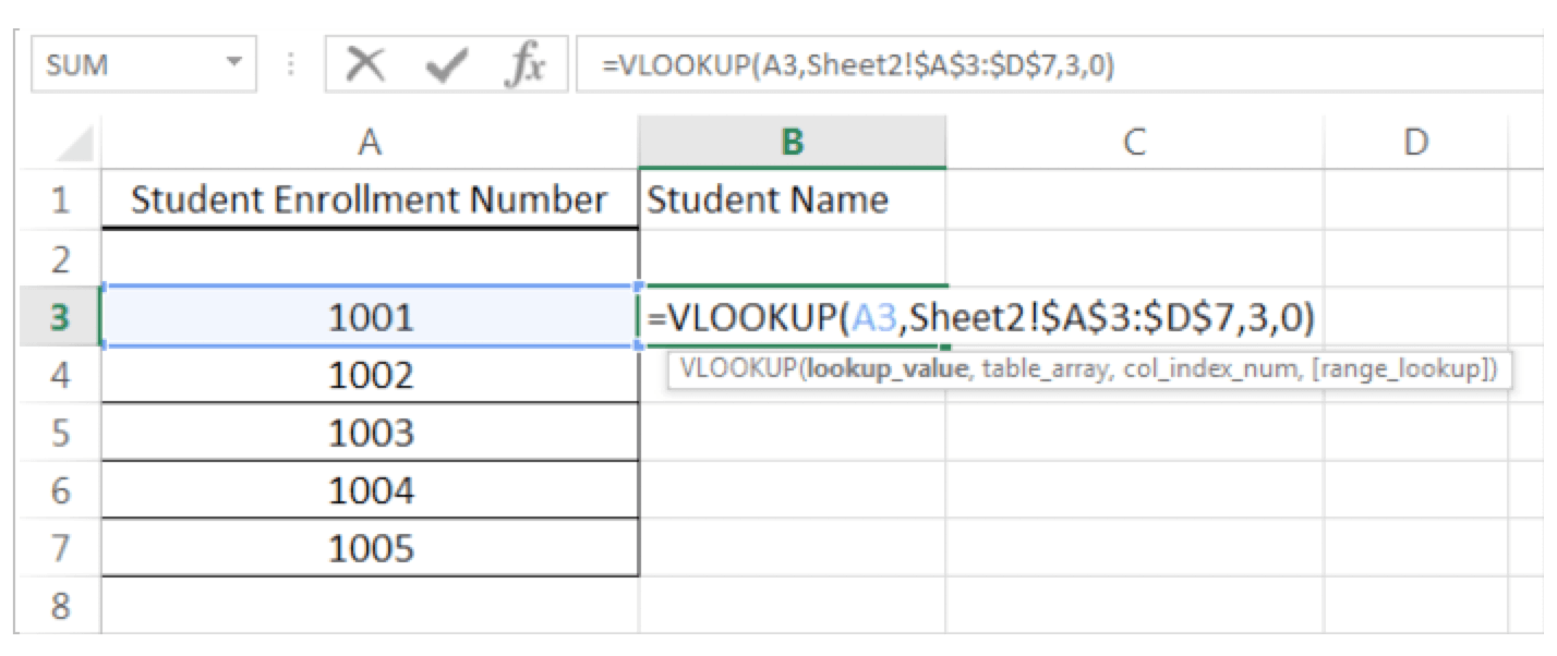 How to do VLOOKUP and HLOOKUP Figure 4 - Dynamic Web Training