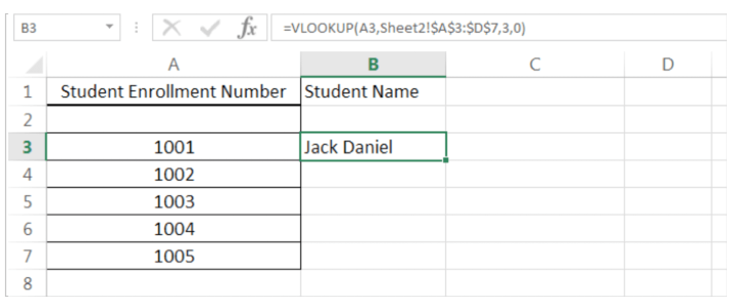 How to do VLOOKUP and HLOOKUP Figure 5 - Dynamic Web Training