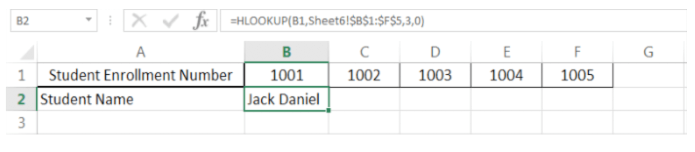 How to do VLOOKUP and HLOOKUP Figure 7 - Dynamic Web Training