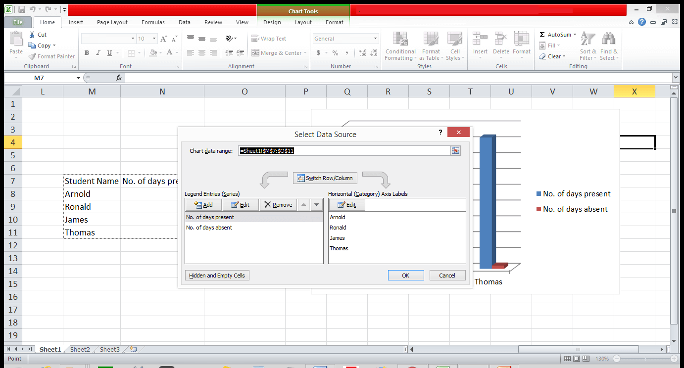Graph and Chart in Excel 10 - Dynamic Web Training