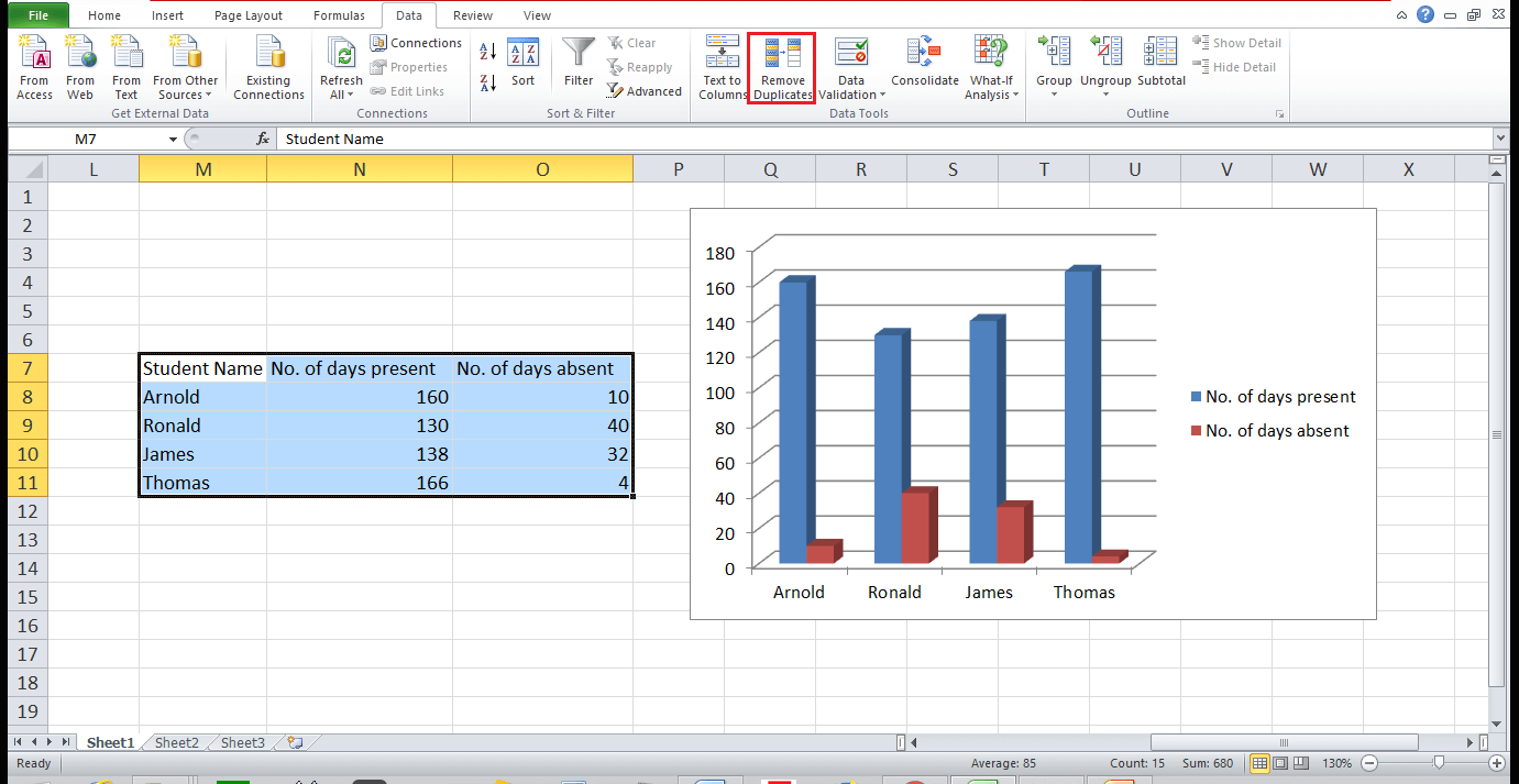 Graph and Chart in Excel 17 - Dynamic Web Training