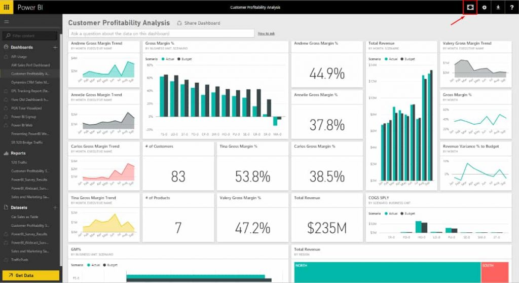 PowerBI Dashboard 1- Dynamic Web Training